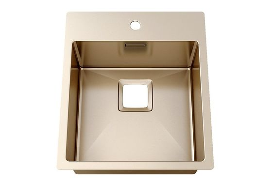 Luxury 304 Sus Above Counter Bathroom Sink For Hotel Sanitary Ware / Brushed Stainless Steel Kitchen Sink